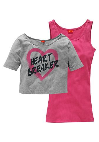 CFL shirt en top 'Heart Breaker' voor meisjes, 2-delige set