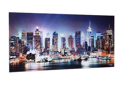 Artprint op glas New York City-Times Square