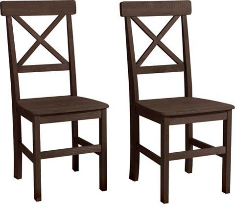 HOME AFFAIRE Grenen stoel in set van 2