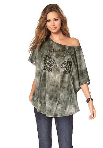 AJC Shirt in oversized model met vleermuismouwen