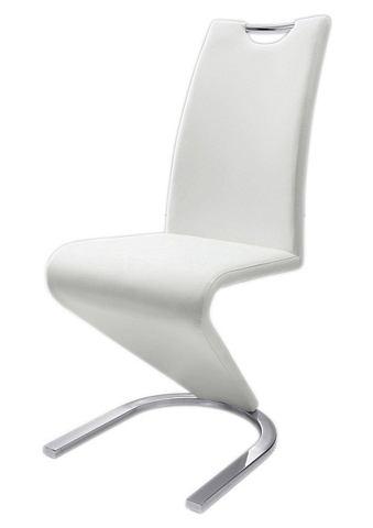 Vrijdragende stoel in leer-look