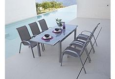 Tuinmeubelset Amalfi met uittrekbare tafel