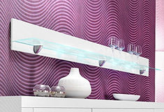 Wandplank in 3 kleuruitvoeringen