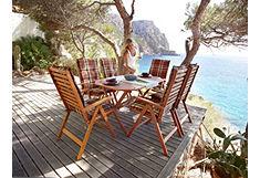 Tuinmeubelset Borkum met 6 stoelen