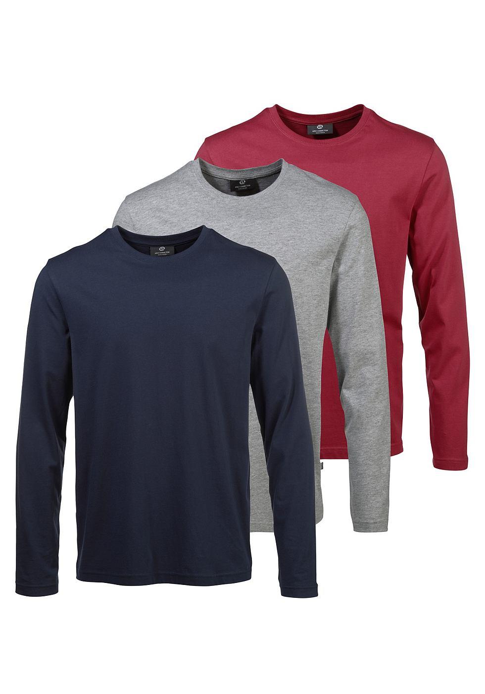 Grey Connection Shirt met lange mouwen 2+1 gratis