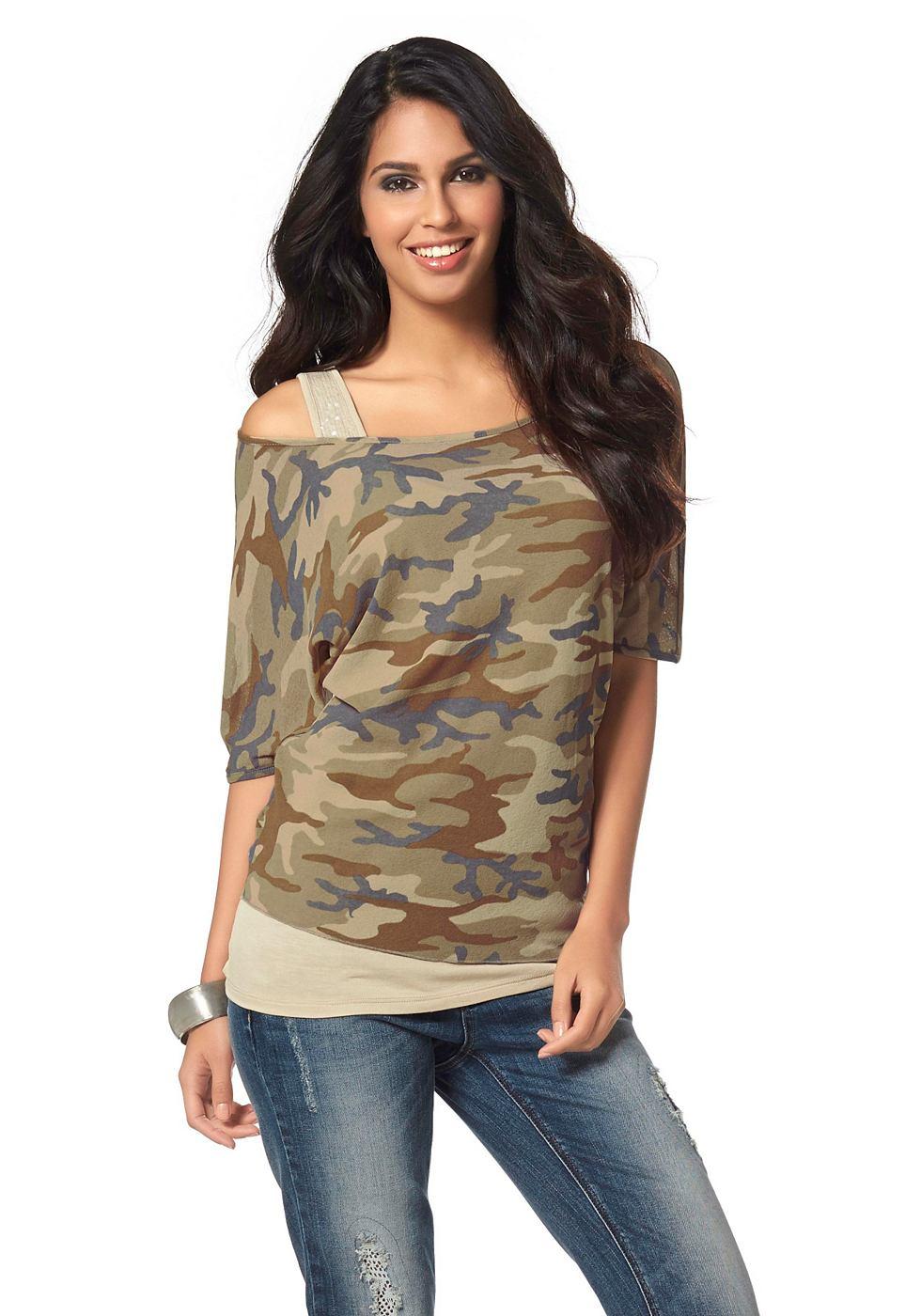 LAURA SCOTT Shirt met tanktop
