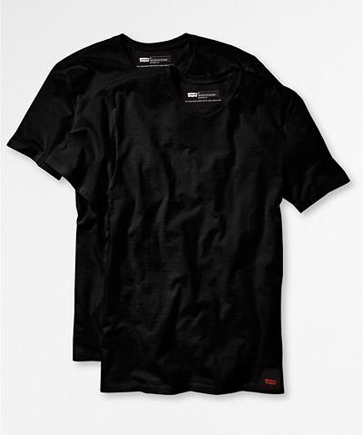 Levi's, T-shirt, korte mouwen '2 Pack Crew Neck Tee Slim Fit Black/Black'