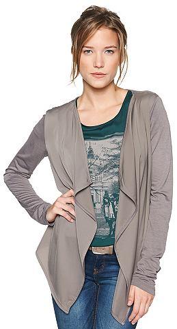 TOM TAILOR T-shirt »fabric mix tee jacket«