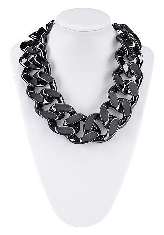 Ketting in chunky chain look, met xxl schakels. verstelbaar door verlengingskettinkje. producttype: ...