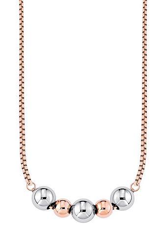Ketting »so1158« van s.oliver. van edelstaal, gedeeltelijk rozegoudkleurig ip gecoat. venetiaanse ketting, ca....