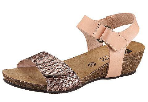 Sandalen, van biostep. ideaal loopcomfort: sandalen van bio step met sleehak in kurkmix en anatomisch gevormd ...