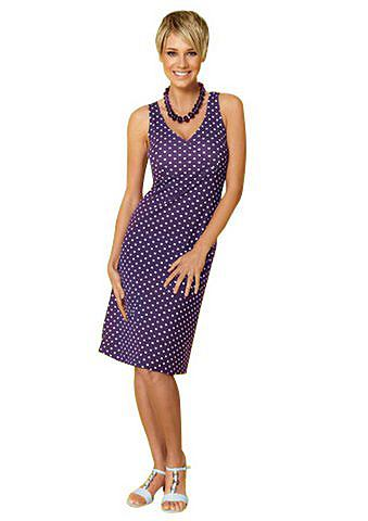 Vivance collection jurk, vivance collection paars/wit