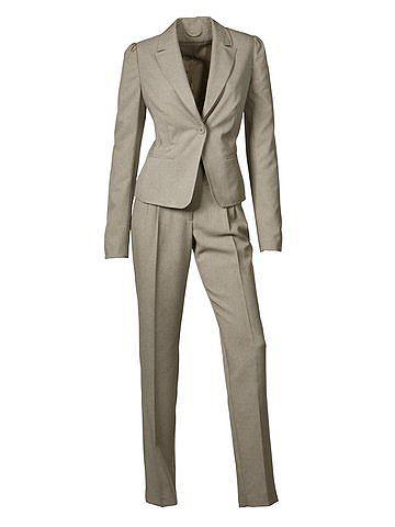 B.c. best connections kostuum, 2-delig beige mêlee