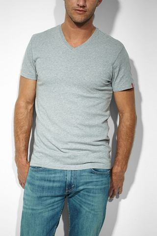 Levi's T-shirt met korte mouwen 'WHITE/HEATHER GREY'