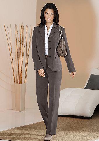 Set: blazer + pantalon bruin