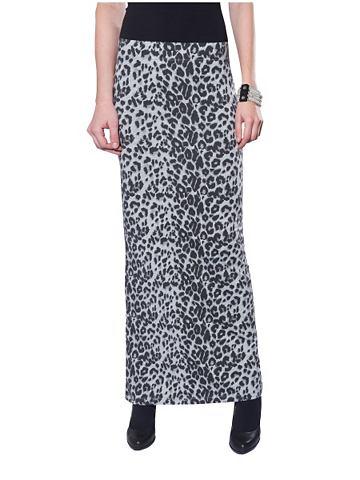 Only only rok »marie long skirt aop« light grey melange