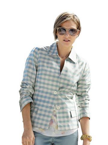 Alba moda geruite blazer mint/creme
