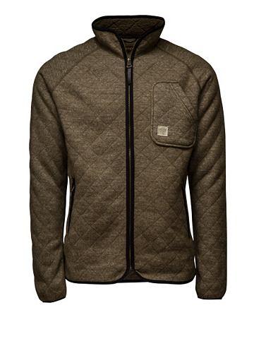 Jack & jones jack & jones leren jas »duo fleece jacket« olive night